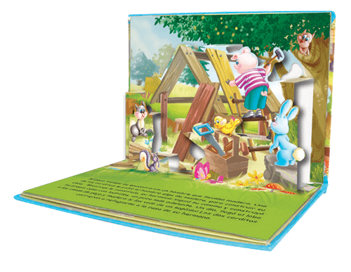 libros cuentos infantiles 3d